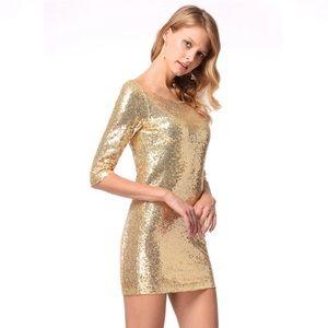 Dresses & Skirts - Metallic gold dress summer